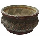 Woven dark colour bowl