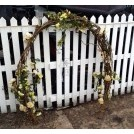 Wicker garland arch