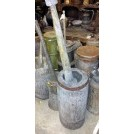 Very large wood pestle & mortar