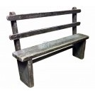 Simple wood bench with back