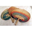 Woven coloured hand fan
