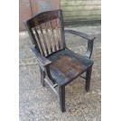 Dark wood chair & arms