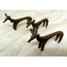 Brass deer ornaments very small