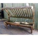 Medium slatted hay manger with trough