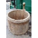 Carved wood tub