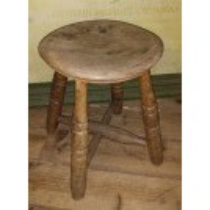 Small round 4-leg stool
