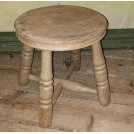 Low turned leg round stool