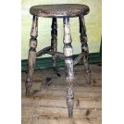 Turned leg tall round stool