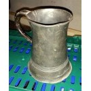 Large pewter tankard