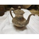 Ornate pewter teapot