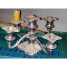 Pewter table candle holder for 5 candles