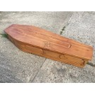 Light Wood Coffin carved