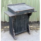 Dark wood scribes desk with flaps