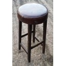Tall round cushioned stool