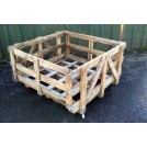 Large open wood builders crate