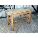 Very rough wood table