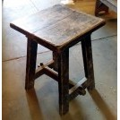 Small square dark wood table
