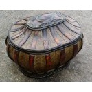 Oval wood ornate tureen