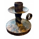 Iron twisted candle holder