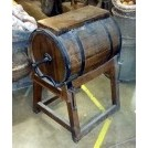Antique dark wood butter churn
