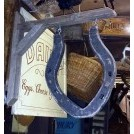 Wood horse shoe sign