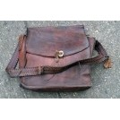 Large leather satchel bag