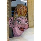 Large paper mache head Lady