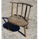 Small stick back wood chair