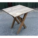 Small square X-frame table