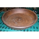 Large ceramic shallow bowl