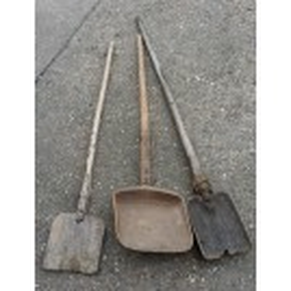 Wood shovels