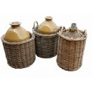 Large flagon in wicker basket