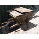 Wood wheelbarrow with lid