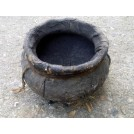Small leather pot