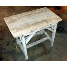 Small low rough wood table