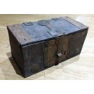 Small brass & wood chest