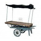 Plain 2-wheel coster barrow with top