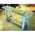 Narrow rough wood work bench