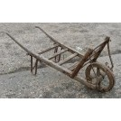 Painted flat slatted wheelbarrow