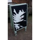 Painted wood sandwich board