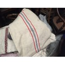White Fabric with Red and Blue Stripe