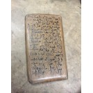 Wooden Tablet with Text