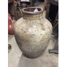 Grey Earthenware Pot with Glazed Top