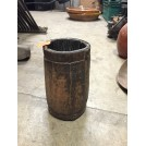 Wooden Pot with Metal Band