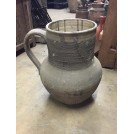 Grey Jug with Tall Ribbed Neck