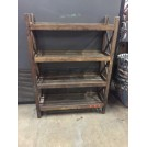 Slatted X Frame Shelf Unit