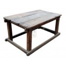 Large planked wood table