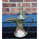 Brass & copper ornate coffee pot