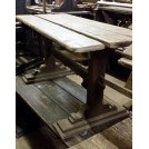 Planked wood table