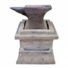 Period anvil on wood stand